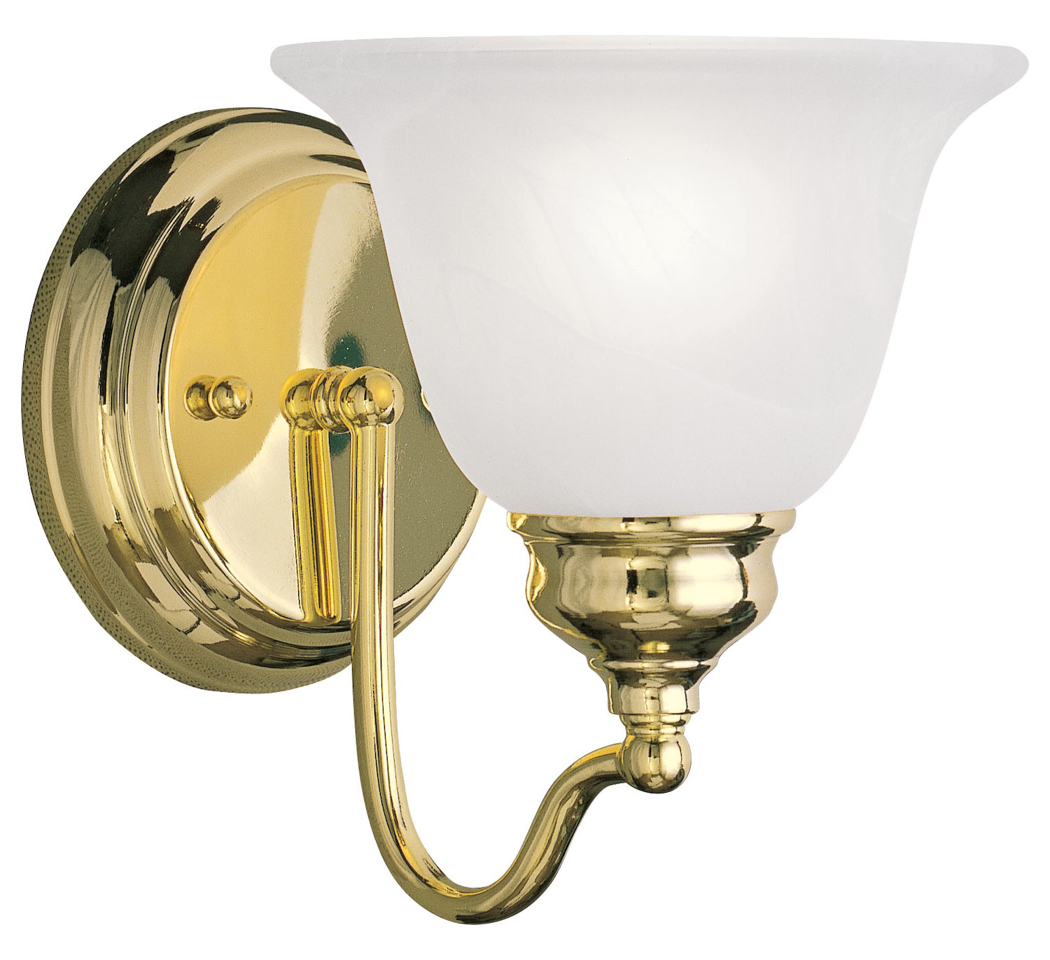 Livex Lighting Polished Brass Bathroom Sconce Polished Brass 1351 02 From Essex Collection