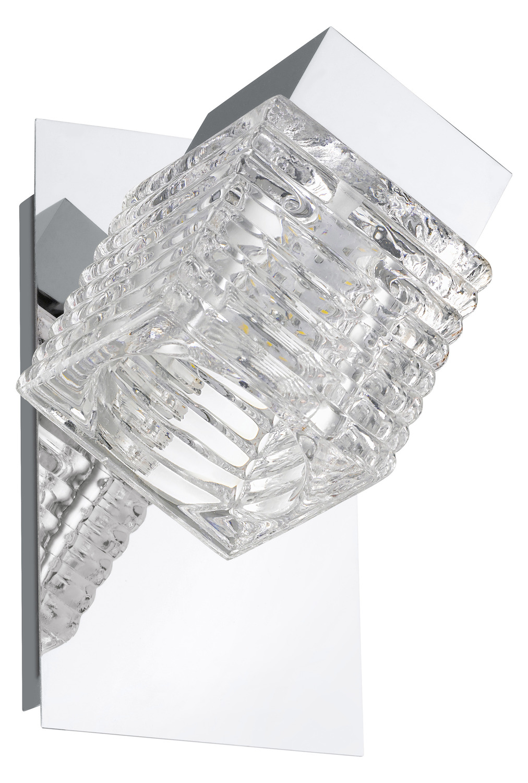 Eglo Chrome Quarto 1 Light Led Bathroom Sconce Chrome