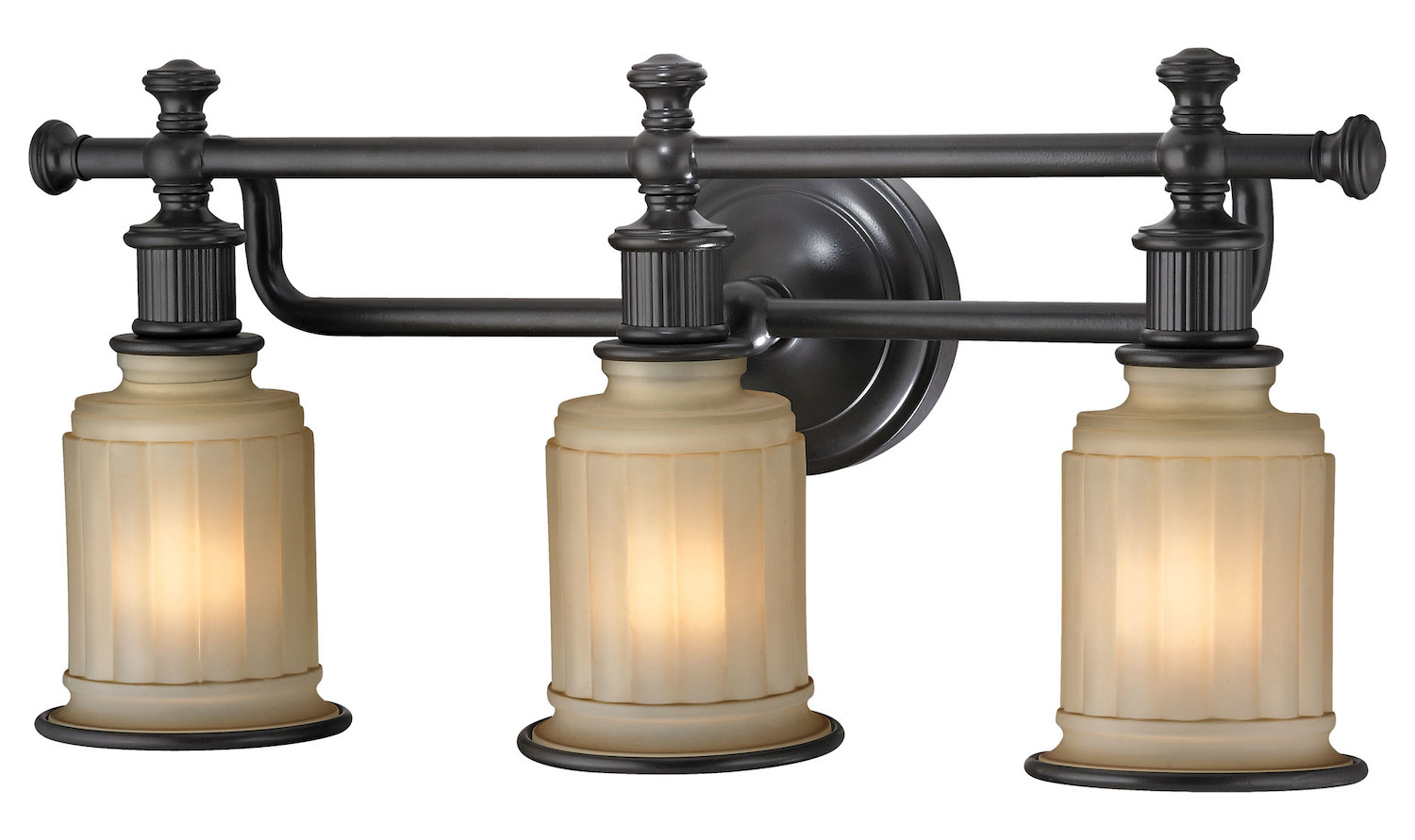 Elk Lighting Acadia Collection 3 Light Bath In Oil Rubbed