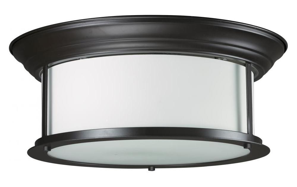 Z Lite Three Light Bronze Matte Opal Glass Drum Shade
