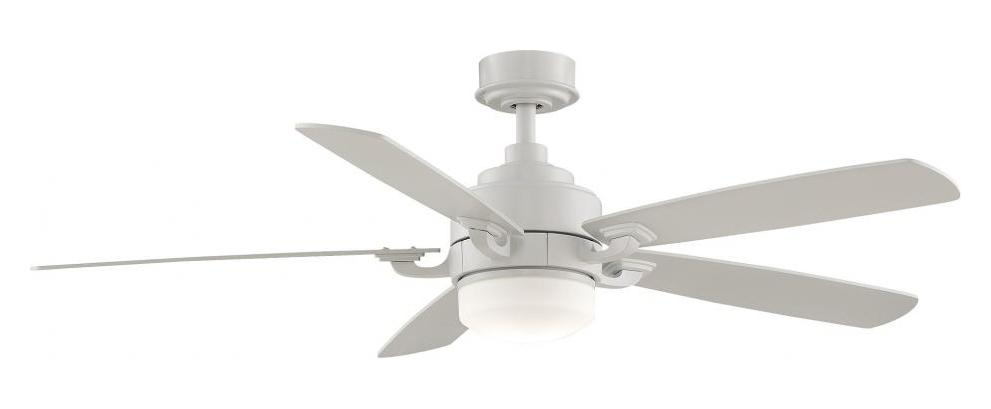 Fanimation One Light White Ceiling Fan Matte White