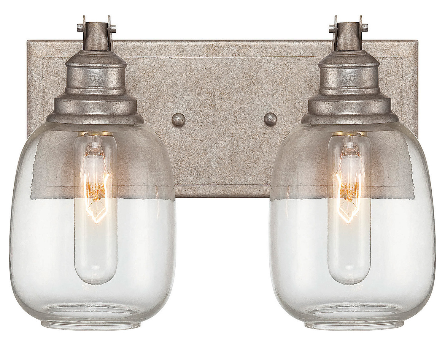 Savoy House Two Light Clear Glass Industrial Steel Vanity Industrial Steel 8-4334-2-27 From ...