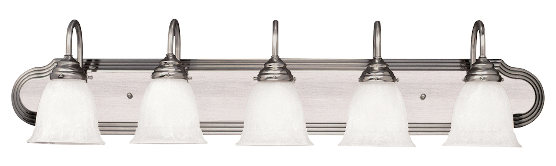 savoy house five light satin nickel vanity light fixture. Black Bedroom Furniture Sets. Home Design Ideas