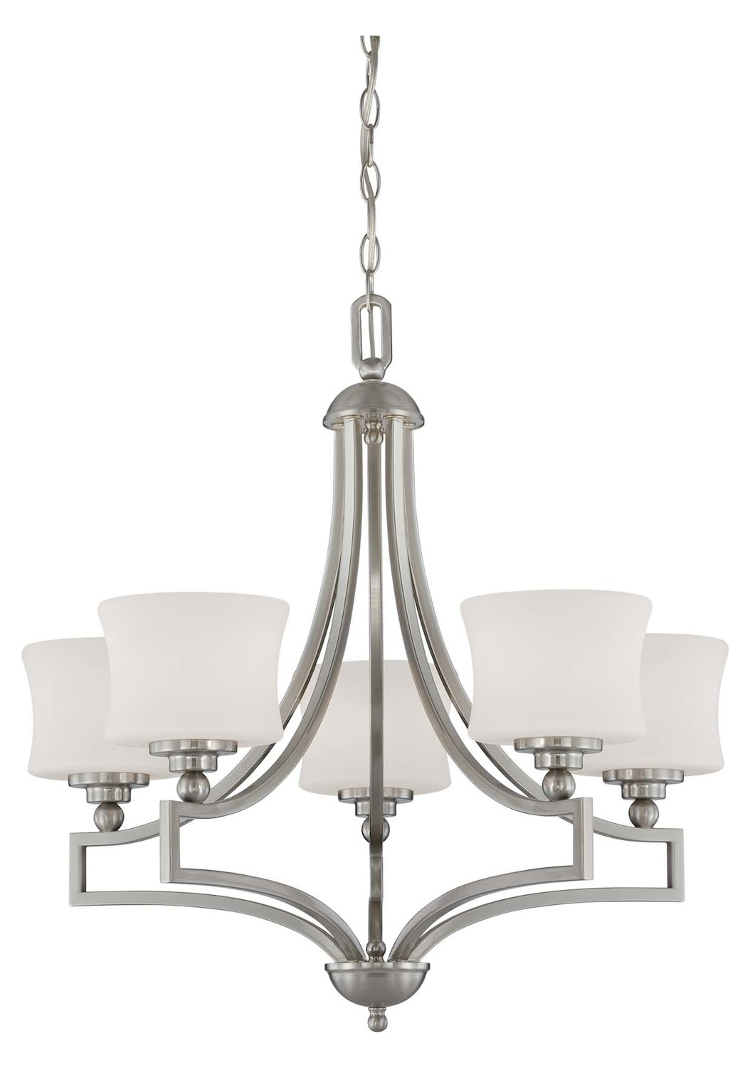 Savoy House Five Light Satin Nickel Drum Shade Chandelier Satin Nickel 1p 7210 5 Sn From Terrell
