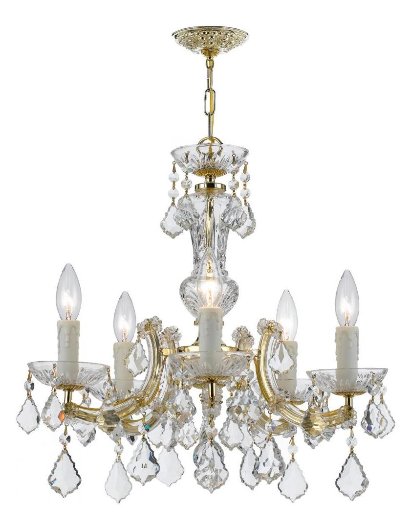 Crystorama Five Light Gold Up Chandelier Gold 4376 Gd Cl S