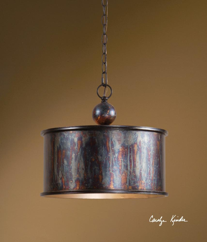 Uttermost Oxidized Bronze Albiano 1 Light Drum Shaped