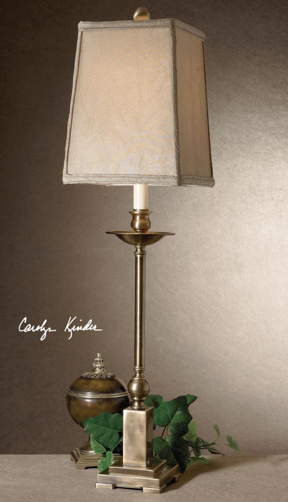 Uttermost Light Aged Bronze Finish Lowell Buffet Lamp