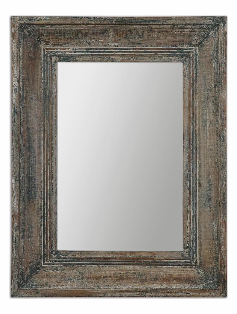 Uttermost Distressed Blue Green With Aged Wood And Rustic