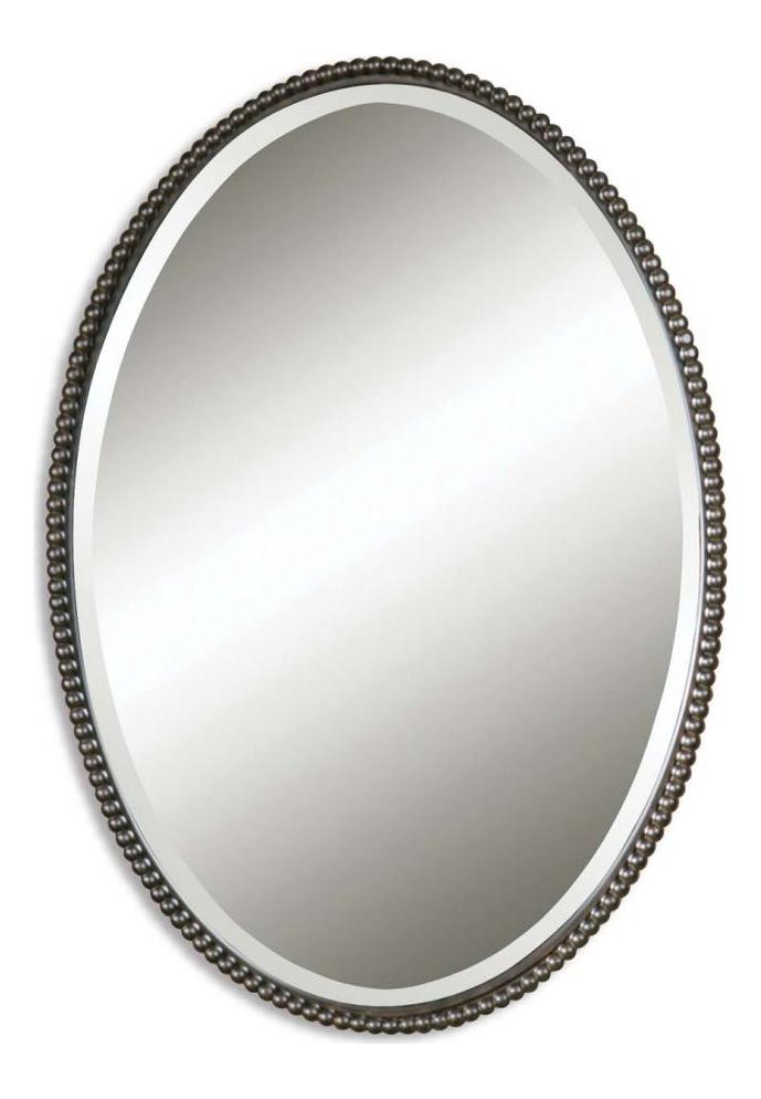 Uttermost B Oil Rubbed Bronze Sherise Oval Beveled Mirror