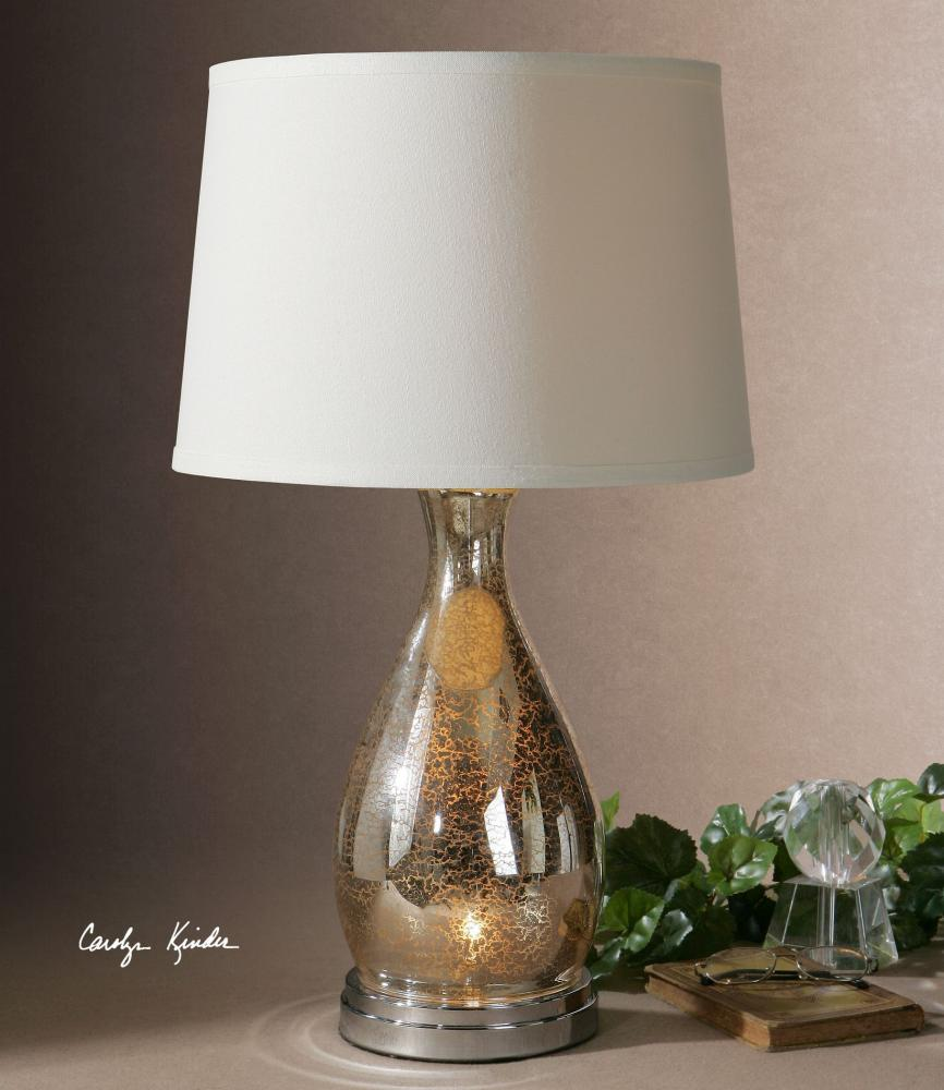 Uttermost antiqued mercury glass with polished chrome for Sardinia floor lamp chrome