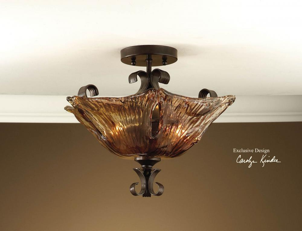 Uttermost Oil Rubbed Bronze 2 Light Semi Flush Ceiling