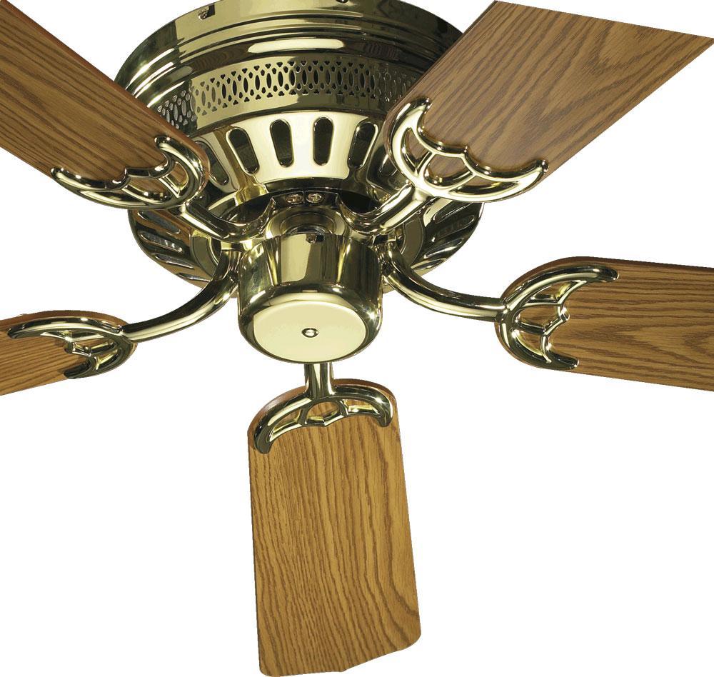 Quorum Polished Brass Hugger Ceiling Fan Polished Brass