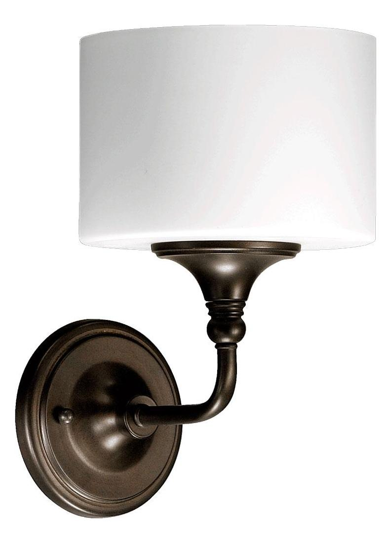 Bronze Glass Wall Lights : Quorum One Light Oiled Bronze Satin Opal Glass Wall Light Oiled Bronze 5490-1-86 From Rockwood ...