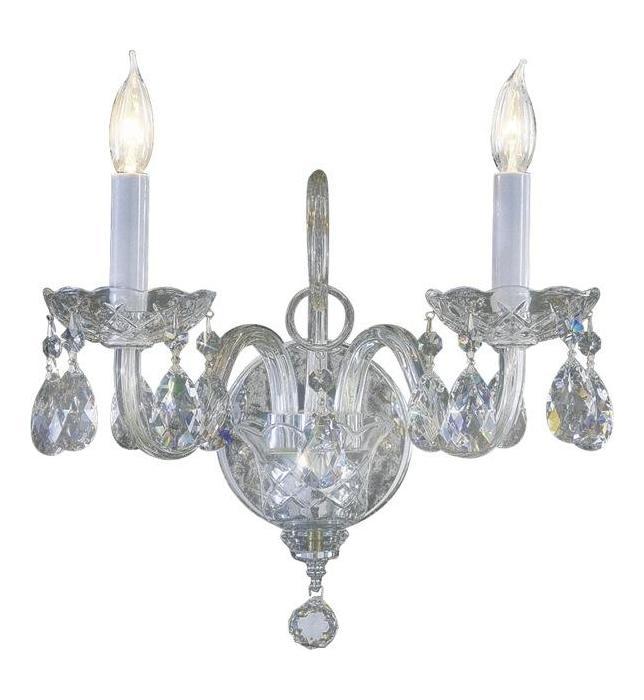 Bohemian Crystal Wall Lights : Quorum Two Light Chrome Imperial Crystal Glass Wall Light Chrome 631-2-514 From Bohemian ...