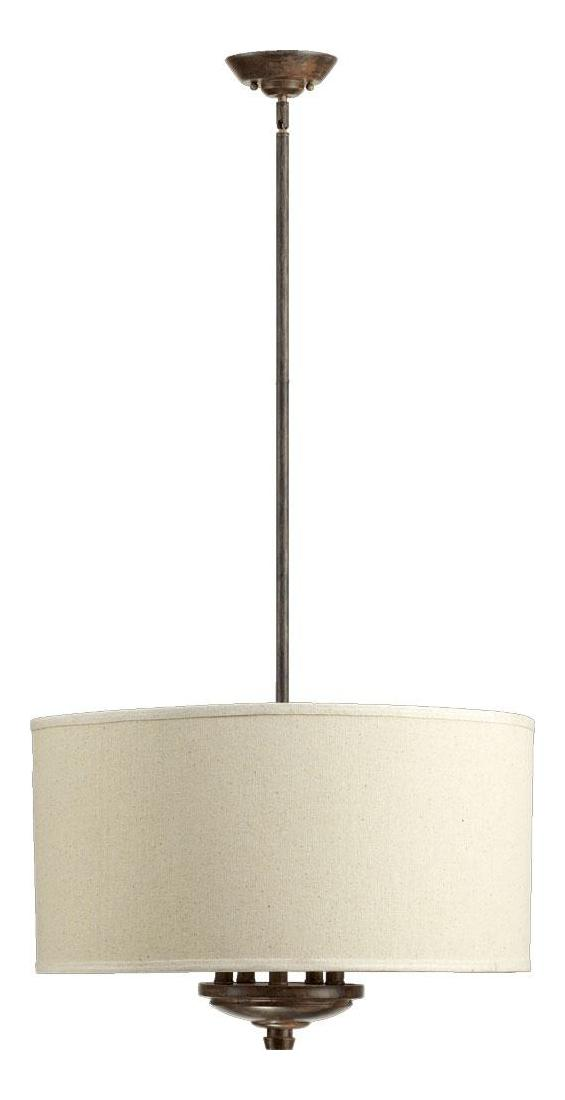 quorum five light oatmeal shade early american drum shade