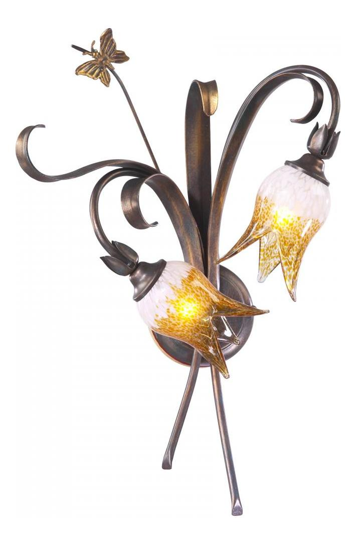 Cyan Designs Venitian Iron 22.75in. Two Lamp Wall Sconce from the Papillion Collection Venetian ...