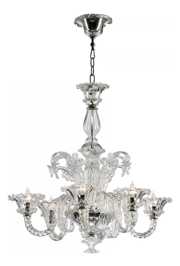 Cyan Designs Clear 30 25in Six Lamp Chandelier From The