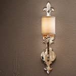 "Esquire 1-Light 23"" Polished Nickel Wall Sconce with Hardback Linen Shade 159-11"