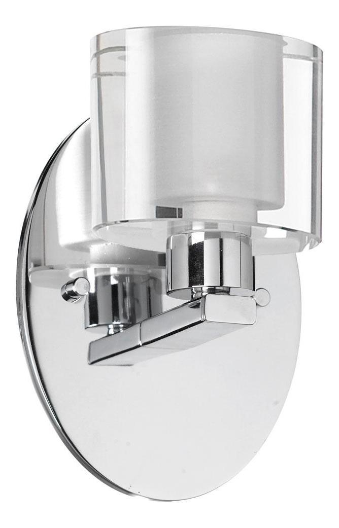 Dainolite Polished Chrome 1 Light Ada Compliant Bathroom Sconce Polished Chrome 809 1w Pc From