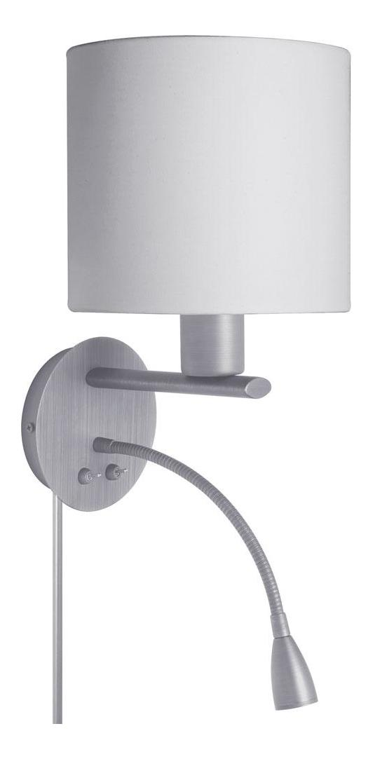 Wall Lights Satin Chrome : Dainolite Satin Chrome Led 2 Light Wall Sconce White DLED410-W-SC From Led Collection