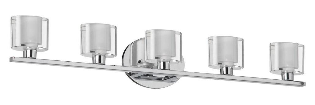 Chrome Bath Lighting Fixtures: Dainolite Polished Chrome 5 Light Ada Compliant Vanity