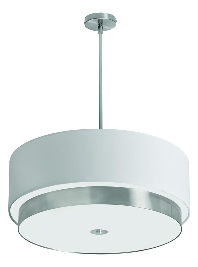 Dainolite 4 Light Large Pendant With White Linen Drum