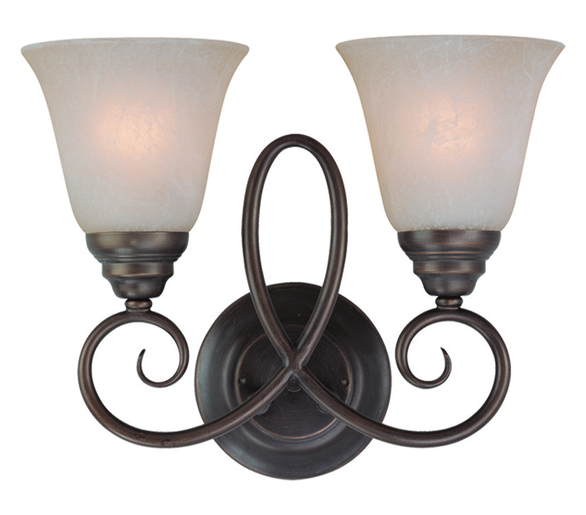 Craftmade Two Light Old Bronze Faux Alabaster Shade Wall Light Old Bronze 25022-OB From Cordova ...