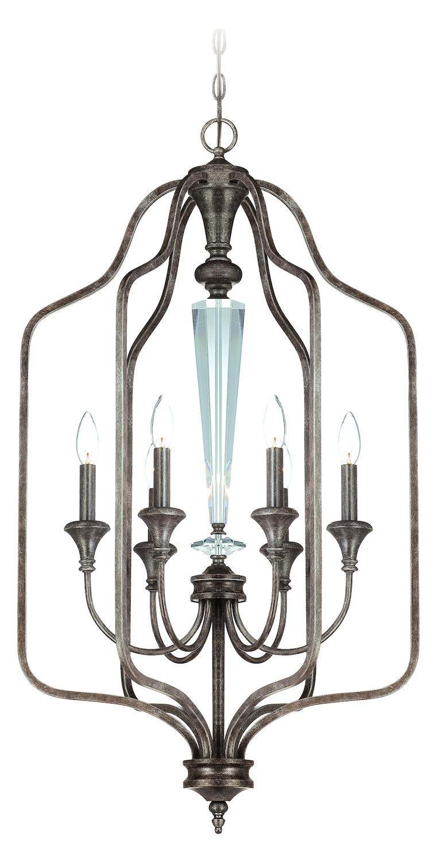 Open Frame Foyer Light : Craftmade six light mocha bronze open frame foyer hall