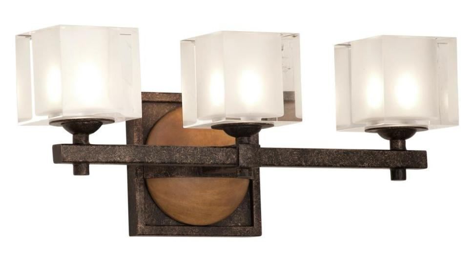 Kalco Florence Gold Hampton 3 Light Bathroom Vanity Light Gold 2933FG From Ha