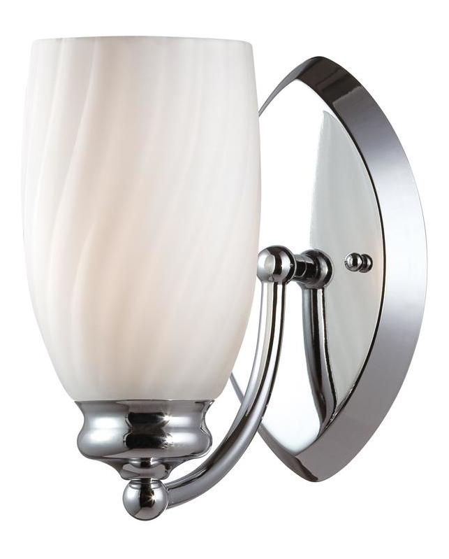 Chrome Wall Sconces Bathroom : Designers Fountain Chrome Belize 1 Light Wall Sconce Bathroom Fixture Chrome 6701-CH From Belize ...