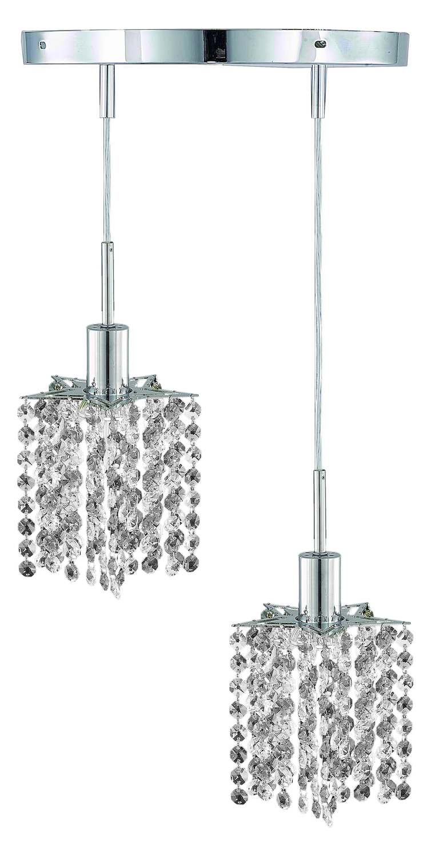 Elegant Lighting Royal Cut Clear Crystal Mini 2 Light