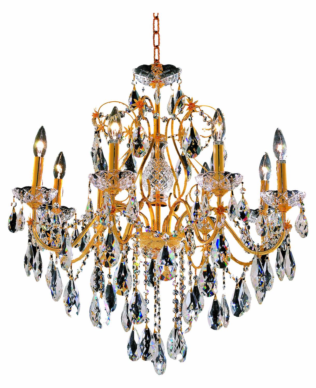 Elegant Lighting Royal Cut Clear Crystal St Francis 8