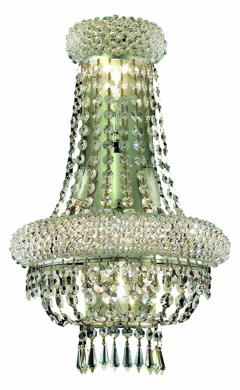 Clear Crystal Wall Sconces : Elegant Lighting Royal Cut Clear Crystal Primo 4-Light Crystal Wall Sconce Chrome 1803W12SC/RC ...