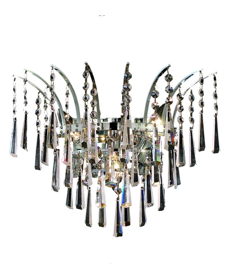 Elegant Lighting Royal Cut Clear Crystal Victoria 3 Light