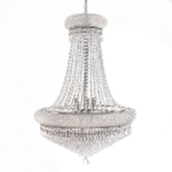Bagel Design 14-Light 32'' Chrome or Gold Chandelier with European or Swarovski Crystals SKU# 10148