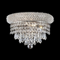 Bagel Design 2-Light 12'' Chrome or Gold Wall Sconce Light Fixture with European or Swarovski Crystals SKU# 10166