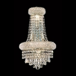 Bagel Design 4-Light 18'' Chrome or Gold Wall Sconce with European or Swarovski Crystals SKU# 10167