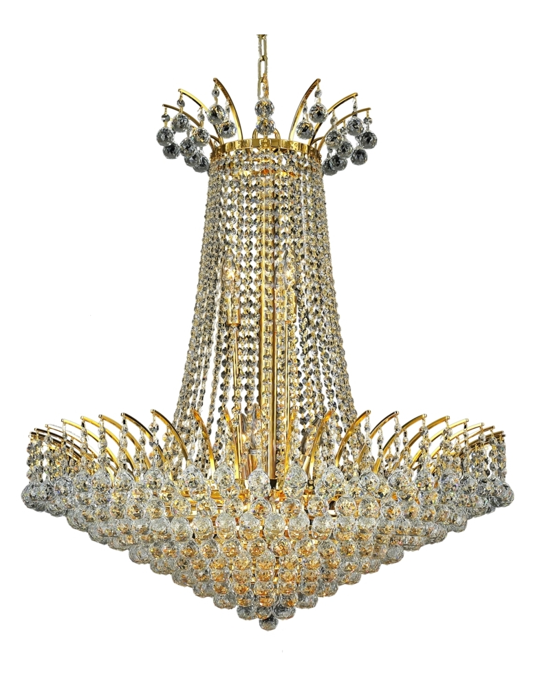 Elegant Lighting Royal Cut Clear Crystal Victoria 16 Light