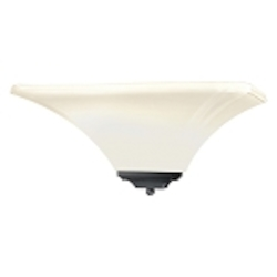 "Agilis Collection 1-Light 15"" Black Wall Sconce with Lamina Blanca Glass 1810-66"