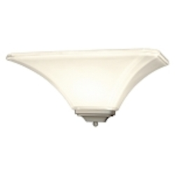 "Agilis Collection 1-Light 15"" Brushed Nickel Wall Sconce with Lamina Blanca Glass 1810-84"