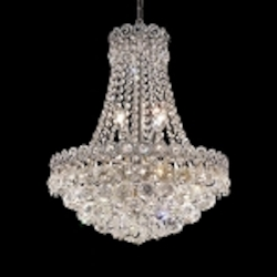 Empire Design 8-Light 20'' Gold or Chrome Mini Chandelier with European or Swarovski Crystals SKU# 10200