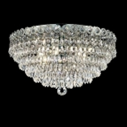 Empire Design 4-Light 14'' Gold or Chrome Ceiling Flush Mount with European or Swarovski Crystals SKU# 10216