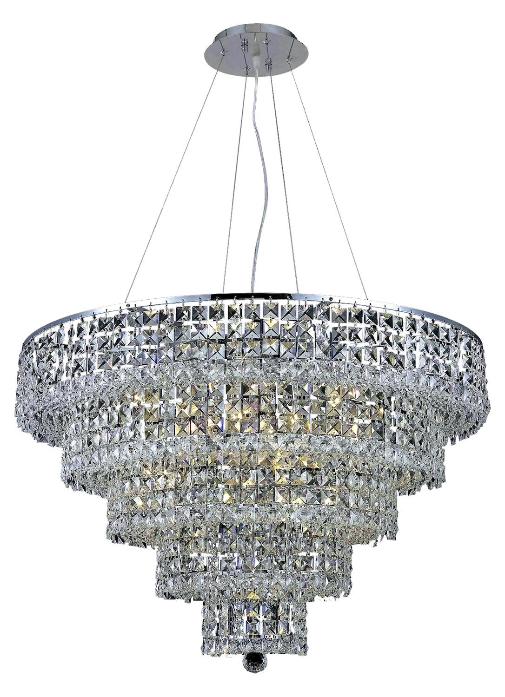 elegant lighting swarovski elements clear crystal maxim 17 light chrome 2037d. Black Bedroom Furniture Sets. Home Design Ideas