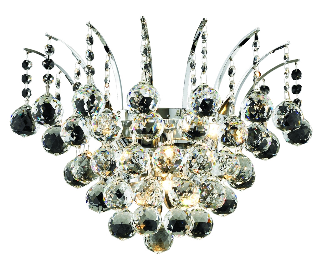 Elegant Lighting Swarovski Elements Clear Crystal Victoria 3-Light Crystal Wall Sconce Chrome ...