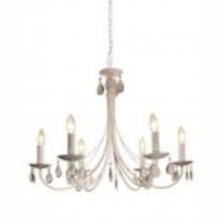 Artcraft Six Light White Up Chandelier - AC1766WH