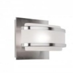 Artcraft One Light Brushed Nickel Frosted Glass Vanity - AC531BN