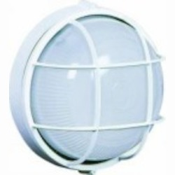 Artcraft One Light White Semi-clear White Glass Marine Light - AC5661WH