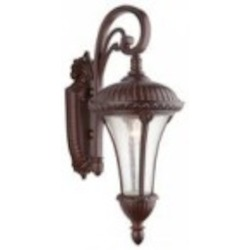 Artcraft Three Light Seeded Clear Glass Mahogany Wall Lantern - AC8030MA
