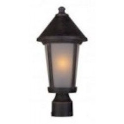 Artcraft One Light Rust Post Light - AC8213RU