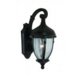 Artcraft One Light Optic Clear Glass Oil Bronze Wall Lantern - AC8561OB